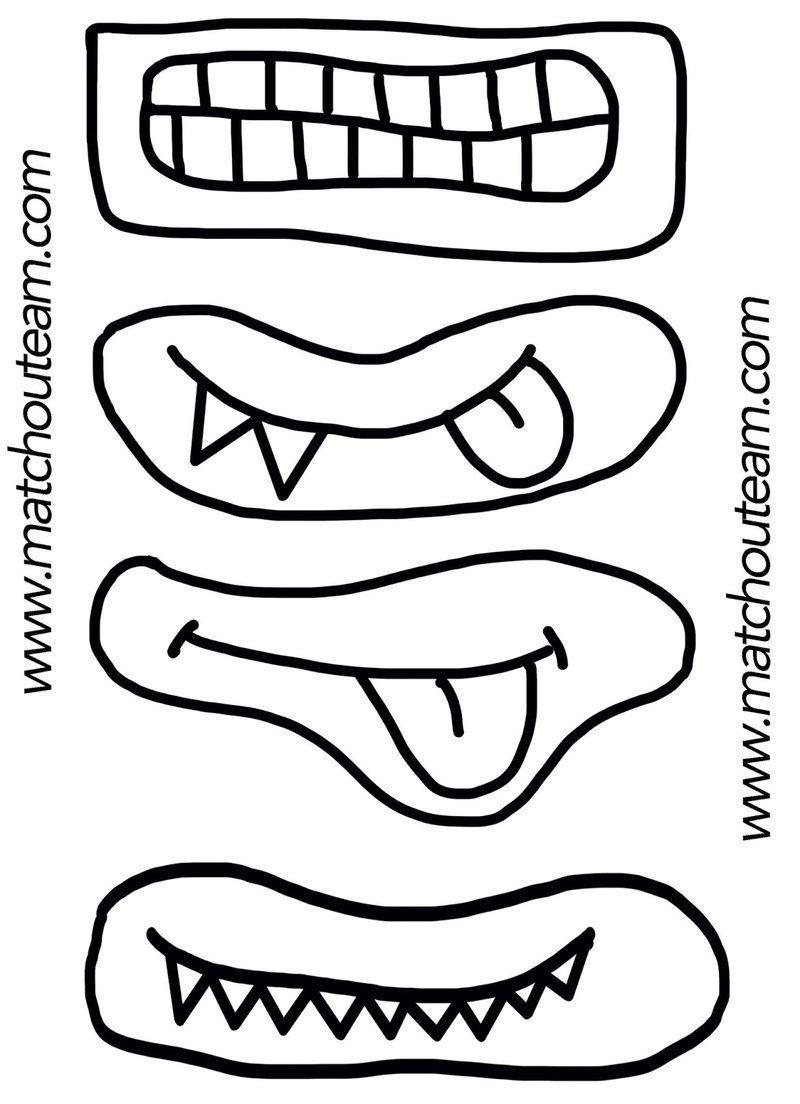 Yeux et bouches ou autre a decouper - Dessin de bouche a imprimer ...