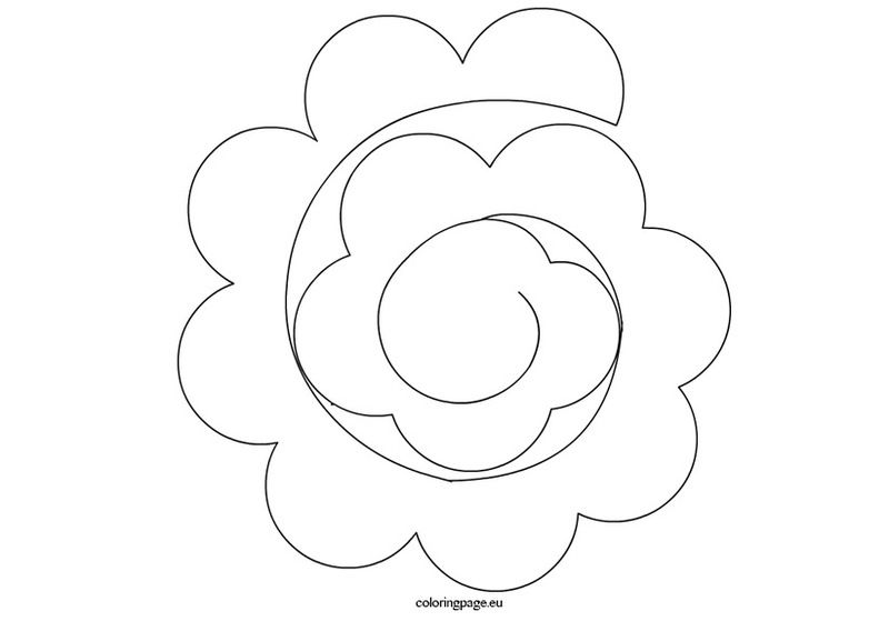 rolled paper roses template - gabarit rose en 3d et feuille